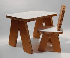how to make cardboard furniture. Cardboard Furniture Design Table Chair Decobizz How To Make O
