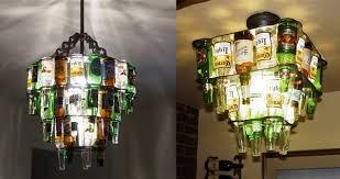 beer bottles chandelier diy