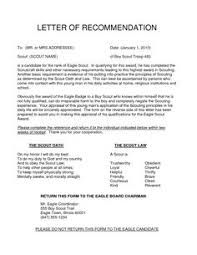 examples of eagle scout letter of recommendation 11 best eagle scout letters of recommendation images eagle