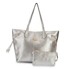Coach City Knitted Medium Silver Totes 20018