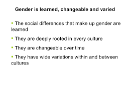 key concepts and links what is gender