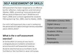 Self Assessment Of Skills: A Lifelong Process Di Turgoose And Marian ...