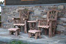 outdoor rustic chairs thrones patio dining sets picnic tables rustic outdoor dining table for