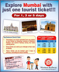 Railway Monthly Pass Fare Chart 2018 Unlimited Travel With Mumbai Local Train Tourist Ticket
