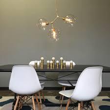 dining room chandelier brass. _HOVER 3-Globe Brass Constell Chandelier Clear Globes Dining Room Scene P