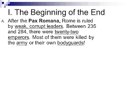 homework complete the dbq outline for tomorrow dbq essay on the  i the beginning of the end a after the pax r a rome is