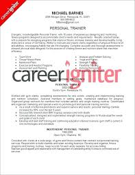 Persona Trainer Sample Resume Magnificent Personal Trainer Resume No Experience Resume Personal Trainer