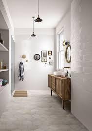 bathroom floor tile hexagon. Neutral Hex Tiles On The Floors And White Subway Bathroom Floor Tile Hexagon O