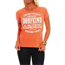 Frauen Damen T Shirt Dorfkind Spruch Fun Spaß Lustig Witzig Geschenk