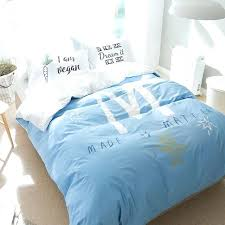 light blue bedding set light blue bedding set letter m duvet cover letter pillowcase cotton simple