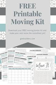 Free Printable Binder Templates Free Printable Moving Binder Downloadable Kit Inlcuding