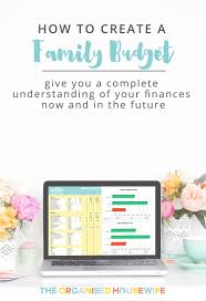 How To Create A Family Budget The Organised Housewife