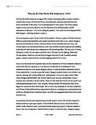 on ww essays on ww1