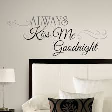 Wall Decor Sticker New Large Always Kiss Me Goodnight Wall Decals Bedroom Stickers