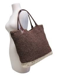 whole natural straw beach totes with pu handles