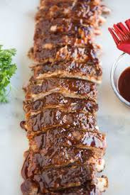 tender bbq pork ribs cooked in the instant pot in just 30 minutes