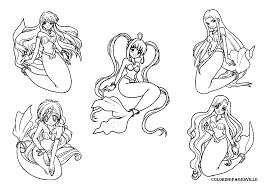Small Picture Mermaid Melody Coloring Book Coloring Pages