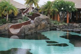 Perfect Backyard Pool With Slides R To Decor Inside Ideas