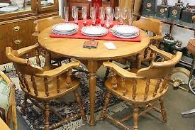 beautiful ethan allen heirloom nutmeg maple tavern arm chairs u