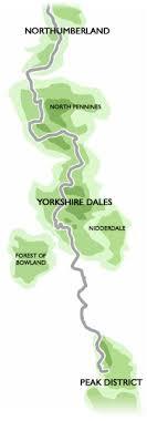 Pennine Way Distance Chart The Route Pennine Way Association