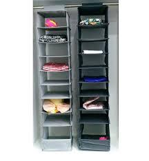 threshold 3 shelf hanging closet organizer household essentials 9 shelves natural polyester essen
