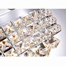 flush mount industrial lighting luxury antonia 4 light crystal semi flush mount chandelier with chrome