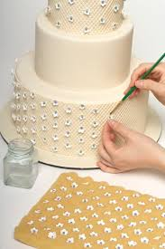 How to decorate a sweet wedding cake (really this is a step by ... & Using the quilted pattern as a guide, apply the blossoms in a Swiss dot  pattern. Adamdwight.com