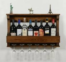 wall mounted wine rack 8 bottle 6 wine