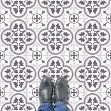 image of a contemporary colour variation of our victorian ornate classic tile vinyl flooring patterns available