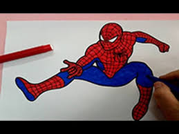 spiderman to color. Modren Color Spiderman Coloring Pages  How To Color  Superhero  Colouring For Kids  YouTube Inside Spiderman To Color P
