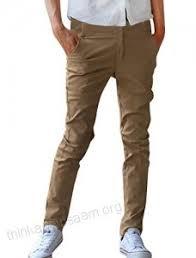 Allegra K Clothing Size Chart Allegra K Men Mid Rise Straight Leg Slim Fit Zip Fly Pants