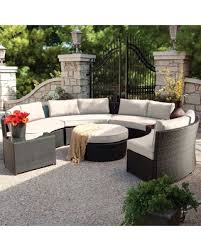 wicker patio furniture sets. Belham Living Meridian Round Outdoor Wicker Patio Furniture Set With  Sunbrella Cushions Wicker Patio Furniture Sets I