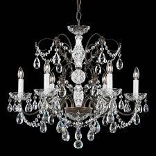 schonbek madison 6 light crystal chandelier