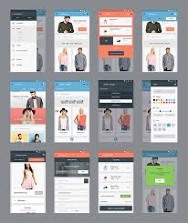 Design App Free P Download Ecommerce Mobile App Screens Free Psd Files