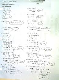 multiple step equations integers worksheet answer key solving multi answers algebra 1 the best worksheets image