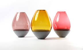 contemporary vase  glass  stone  silhouette hurricane  utopia