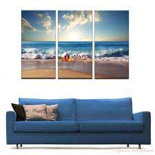 2018 3 panelsno frame blue sea water picture modern wall decor print on canvas oil painting canvas painting from canvasart 20 39 dhgate com