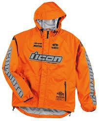 icon pdx waterproof shell jacket jackets textile neonorange icon motorhead leather jackets authentic usa