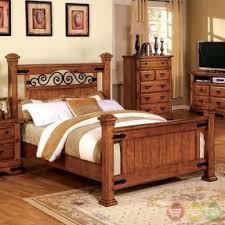 metal bedroom sets. massive panel bed made of wood and metal. high headboard is decorated with sophisticated metal bedroom sets