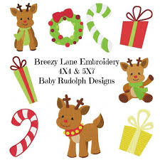 First Christmas Embroidery Design The Most Special Free And Paid Rudolph Christmas Embroidery