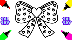 Small Picture How to Draw Set Hair Bow for Girls Hair Bow Coloring Pages for