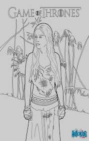 Game Of Thrones Coloring Pages Game Thrones Princess Daenerys