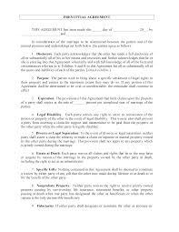 Sample Prenup Prenuptial Agreement Template