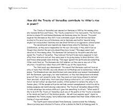 how did the treaty of versailles contribute to hitler s rise in  document image preview