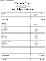Sample Of Profit And Loss Statement For Self Employed Profit And Loss Report Template What Is A Statement Sample