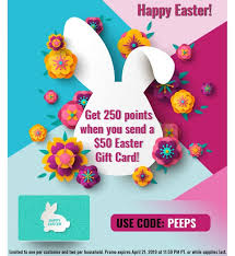 swych 250 points on 50 easter gift card promo code ps