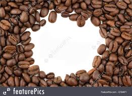 coffee beans border.  Beans Beverage Ingredients Coffee Beans Forming A Border With Copy Space White  Background To Beans Border O