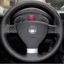 genuine leather steering wheel cover for golf mk5 passat tiguan eos and other