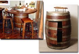 wine barrel furniture by 2 day designs