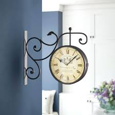 two sided wall clock round double sided wall hanging clock two sided wall clock modern